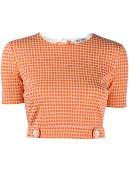 Miu Miu check crop top MJN1721V6D
