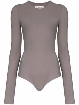 Maison Margiela semi-sheer long-sleeve bodysuit S51NA0056S20518