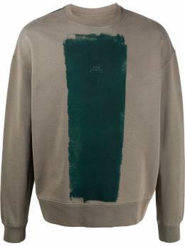A-Cold-Wall* block paint logo sweatshirt MW004WHLCG