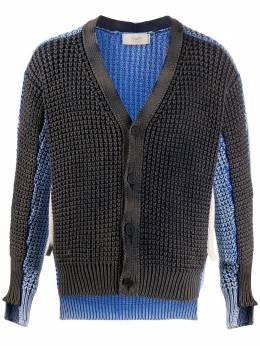 Maison Flaneur colour-block asymmetric cardigan 20SMUSW500FC018