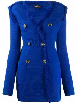 Elisabetta Franchi elongated knitted blazer AM76S01E2