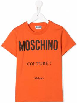 Moschino Kids TEEN Couture! print crew neck T-shirt H9M024LBA10