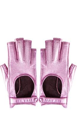 Розовые перчатки-митенки Gucci 470182494