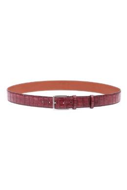 Бордовый кожаный ремень Santoni 1165182399