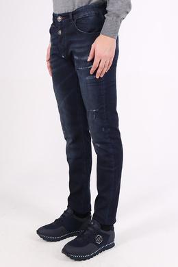 Синие джинсы с потертостями Philipp Plein 1795182345