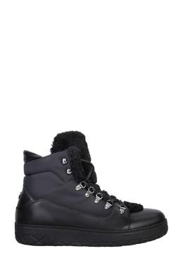 Комбинированные утепленные ботинки Moncler 34182498