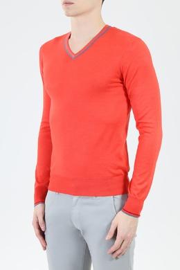 Оранжевый джемпер с V-образным вырезом Cruciani 1711183216