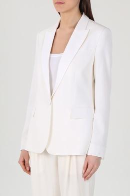 Белый однобортный пиджак Stella McCartney 193183274