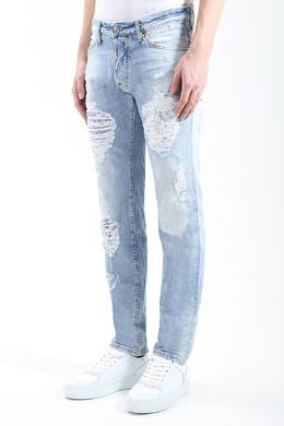 Голубые джинсы с разрезами Dsquared2 1706183351