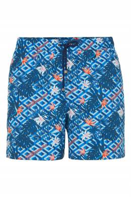 Голубые купальные шорты с ярким принтом Billionaire 1668183242