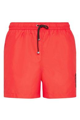 Красные купальные шорты с вышитым гербом Billionaire 1668183241