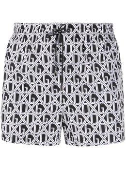Dolce&Gabbana monogram print swim shorts M4A06THSMH6