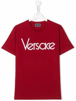 Young Versace TEEN stitched logo T-shirt YD000108YA00079