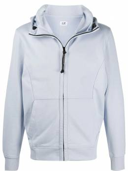 C.P. Company goggle detail zipped hoodie 08CMSS015A005160W