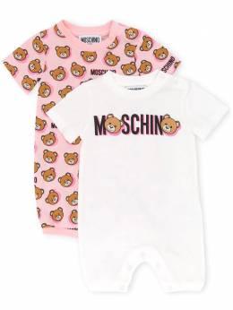 Moschino set of two bear print shorties MUY02PLAB16B