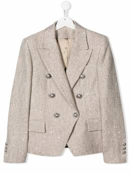 Balmain Kids fitted double-breasted blazer 6M2047MD150