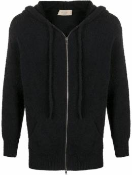 Maison Flaneur furry zipped hoodie 20SMUSW220FC034