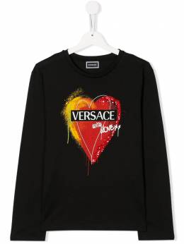 Young Versace TEEN heart logo T-shirt YC000149YA00270