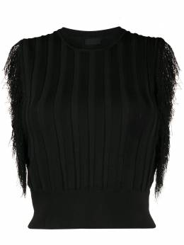 Pinko fringed knitted top 1G14MAY62XZ99
