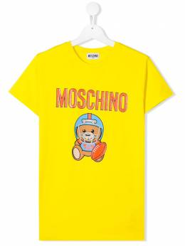 Moschino Kids Toy Bear T-shirt HUM02QLBA10