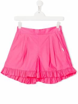 Msgm Kids ruffle trimmed short 022106