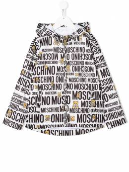 Moschino Kids TEEN all-over logo print rain jacket HUS029L3B25
