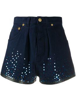 Alberta Ferretti шорты с пайетками J03261688