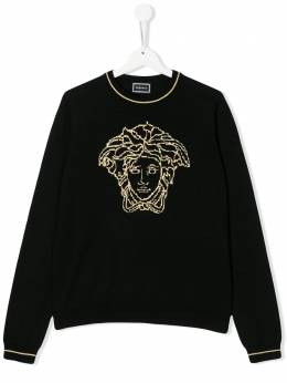 Young Versace TEEN knitted Medusa jumper YC000174YA00240