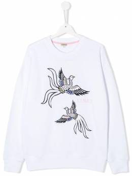 Kenzo Kids embroidered bird sweatshirt KQ15058