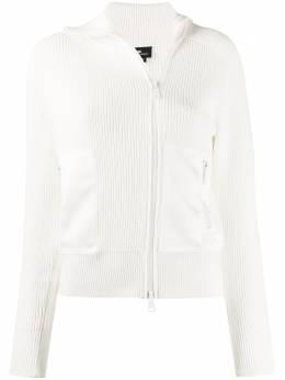 Elisabetta Franchi zip-up ribbed cardigan MK17S01E2