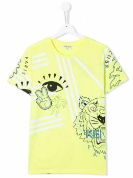 Kenzo Kids футболка с принтом Tiger KQ10528