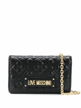 Love Moschino quilted logo clutch JC4010PP1ALA0
