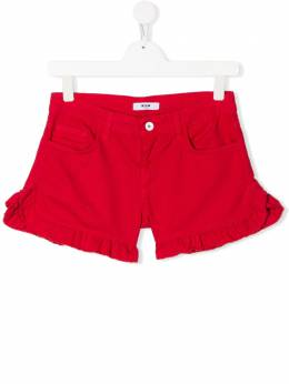 Msgm Kids ruffled hem shorts 022054