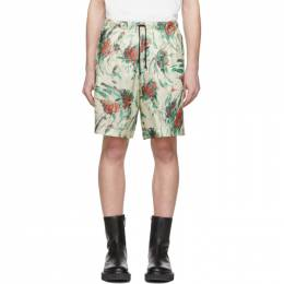 Dries Van Noten Off-White and Multicolor Floral Piper Shorts 20950-9079-006
