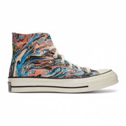 Converse Multicolor Marble Chuck 70 High Sneakers 167373C