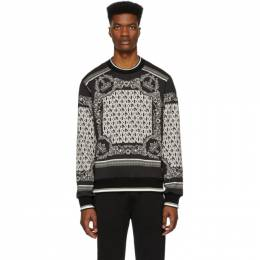 Dolce&Gabbana Black and White Bandana Sweatshirt G9OW6T FI7IC