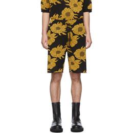 Dries Van Noten Black and Gold Jeroen Shorts 21279-9709-954