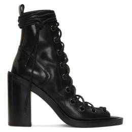 Ann Demeulemeester Black Lace-Up Sandals 2013-2808-370-099