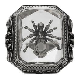 Alexander McQueen Silver Spider Resin Ring 611304I12RY