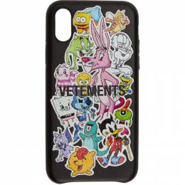 Vetements Black Monsters iPhone XS Max Case SS20SA005