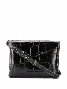 Staud Hollie croc-effect shoulder bag 1809207BLK