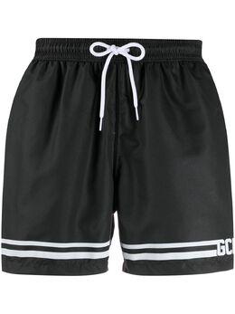 Gcds printed logo swim shorts CC94M050001