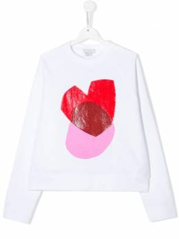 Stella McCartney Kids TEEN heart print sweatshirt 588679SOJ32