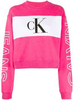Calvin Klein Jeans толстовка свободного кроя с логотипом и вставкой J20J212980