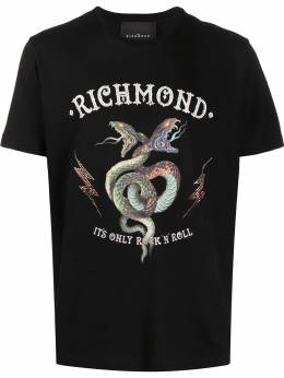 John Richmond logo-print new neck T-shirt RMP20019TSDP