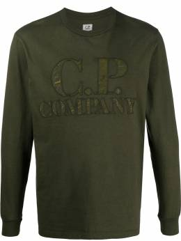 C.P. Company long sleeve logo patch top 08CMTS326A005697G