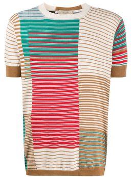 Maison Flaneur striped short-sleeved jumper 20SMUSW400FC018
