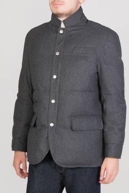 Серая куртка пиджачного кроя Brunello Cucinelli 1675183668