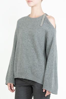 Серый свитер оверсайз Brunello Cucinelli 1675183628