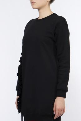 Черный свитшот с оборками MSGM 296183763